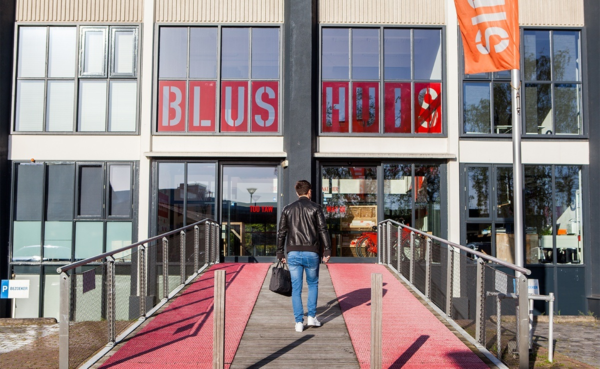 Blushuis op Triple O Campus in Breda. Triple O Campus is het centrum voor creativiteit en technologie van Breda en omstreken.