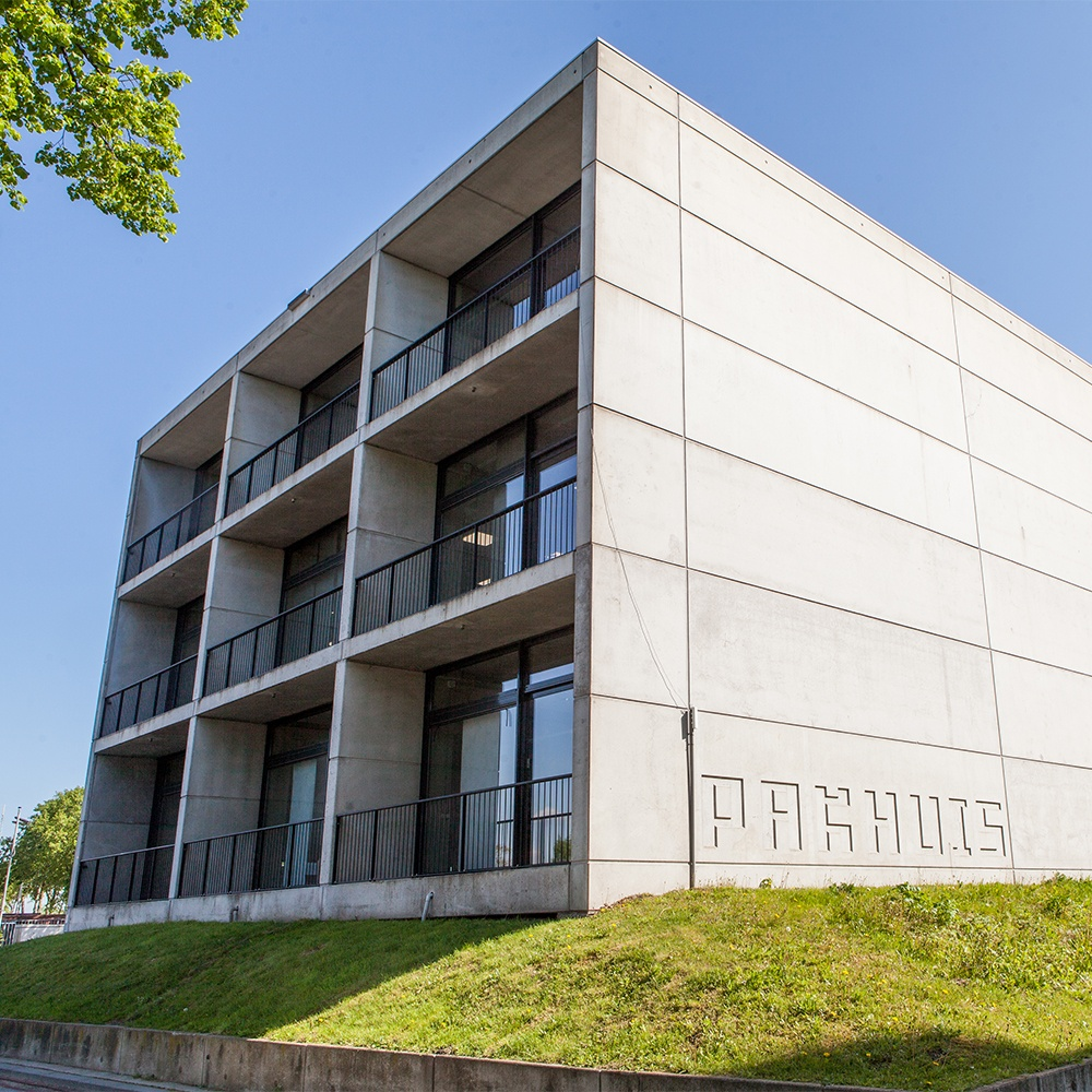 Pakhuis op Triple O Campus in Breda. Triple O Campus is het centrum voor creativiteit en technologie van Breda en omstreken.