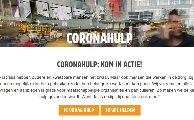 NLvoorElkaar Coronahulp website
