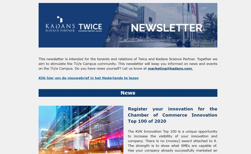 Twice Kadans Newsletter of April 2020