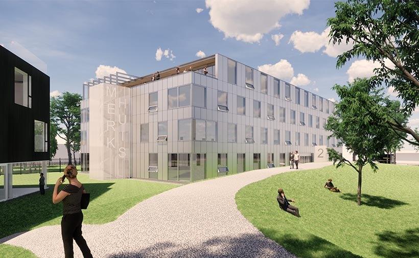 Impressie van Merkhuis op TripleO Campus Breda