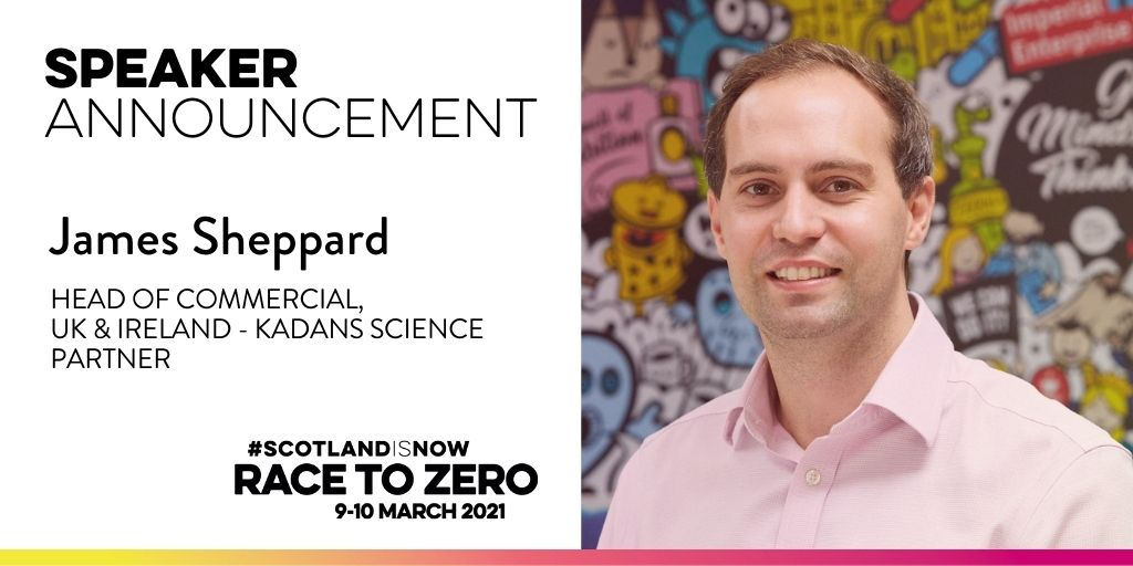 James Sheppard speaking at Scotland Is Now Race to Zero